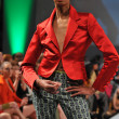 NEW YORK- SEPTEMBER 16: Model walks runway at the Joseph Domingo show at Waldorf Astoria for Spring Summer 2013 during Couture Fashion Week on September 16, 2012 in New York City - Stock Photo