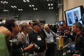 NEW YORK - OCTOBER 26: attending the PDN PhotoPlus Expo is the largest photography show in North America, was held at the Jacob K Javits Convention Center on New York — Stock Photo