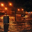 Flooded cars, caused by Hurricane Sandy - Stock Photo
