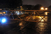 Flooded Brooklyn Queens expressway, caused by Hurricane Sandy — Stock Photo