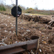 Debris litters the ground in the Sheapsheadbay neighborhood due to flooding from Hurricane Sandy — Stock Photo #14162602