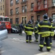 NYC fire department working in the Sheapsheadbay neighborhood due to flooding from Hurricane Sandy — Stock Photo