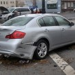Damaged and abandoned car in the Sheapsheadbay neighborhood due to flooding from Hurricane Sandy — Stock Photo #14164212