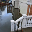 Seriouse flooding in the buildings at the Sheapsheadbay neighborhood due to impact from Hurricane Sandy — Photo