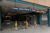 Hurricane Sandy in Brooklyn, New York, U.S. — Stock Photo