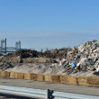 NEW YORK, NY - NOVEMBER 09: Reese Park parking lot was converted to GIANT garbage place as part of Far Rockaway on November 9, 2012 in the Queens borough of New York City. — Stock Photo