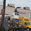 BROOKLYN, NY - NOVEMBER 11: Working out power problems in the Rockaway due to impact from Hurricane Sandy in Queens, New York, U.S., on Novemeber 11, 2012. — Stock Photo