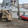 QUEENS, NY - NOVEMBER 11: U.S. Navy working on the streets ater massive destruction in the Rockaway Beach area due to impact from Hurricane Sandy in Queens, New York, U.S., on November 11, 2012. — Stock Photo #14807775