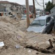 Stock Photo: QUEENS, NY - NOVEMBER 11: Deamaged car in Rockaway due to impact from Hurricane Sandy in Queens, New York, U.S., on Novemeber 11, 2012.