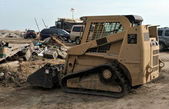 QUEENS, NY - NOVEMBER 11: U.S. Navy working on the streets ater massive destruction in the Rockaway Beach area due to impact from Hurricane Sandy in Queens, New York, U.S., on November 11, 2012. — ストック写真
