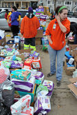 QUEENS, NY - NOVEMBER 11: getting help with hot food, clothes and supplies in the Rockaway beach area after impact from Hurricane Sandy in Queens, New York, U.S., on November 11, 2012. — Stock Photo