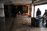QUEENS, NY - NOVEMBER 11: Flooded basement and aftermath recovery in the Rockaway beach area houses due to impact from Hurricane Sandy in Queens, New York, U.S., on November 11, 2012. — Stock Photo