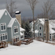 View to slopeside condos at Stratton ski resort, Vermont — Stock Photo