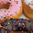 Fresh and tasty donuts - Foto Stock