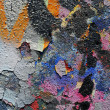 Graffiti wall details close-up — Stock Photo