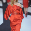 PARIS, FRANCE - MARCH 02: A model walks the runway during the Guy Laroche Ready to Wear Fall Winter 2011 show as part of the Paris Fashion Week on March 02, 2011 - Stock Photo
