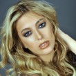 Portrait of exotic beautiful blond Equadorian woman - Stock Photo