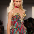 Stock fotografie: NEW YORK- SEPTEMBER 11: Model walks runway at the Blonds Collection for Spring/ Summer 2013