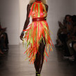 NEW YORK- SEPTEMBER 11: Model walks runway at the Blonds Collection for Spring/ Summer 2013 — 图库照片