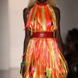 NEW YORK- SEPTEMBER 11: Model walks runway at the Blonds Collection for Spring/ Summer 2013 - Stock Photo