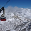 Spectacular view to the Mountains from Snowbird ski resort in Utah, USA — Stock fotografie