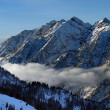 Spectacular view to the Mountains from Snowbird ski resort in Utah, USA - Foto de Stock