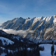 Spectacular view to the Mountains from Snowbird ski resort in Utah, USA — Stok fotoğraf