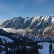 Spectacular view to the Mountains from Snowbird ski resort in Utah, USA - Stock fotografie