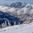 Spectacular view to the Mountains from Snowbird ski resort in Utah, USA — Foto de Stock
