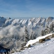 Spectacular view to the Mountains from Snowbird ski resort in Utah, USA — Stock Photo