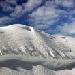 On the top of the World - Snow and Sky. Snowbasin mountain, Utah — Stock Photo #18539101