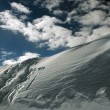 On the top of the World - Snow and Sky. Snowbasin mountain, Utah — Stock Photo #18539109