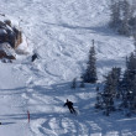 在犹他州的滑雪胜地阿尔塔,冬季时间 — 图库照片