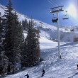 Winter time at Alta ski resort, Utah - Stockfoto