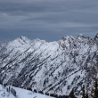 Spectacular view to the Mountains from summit of Alta ski resort in Utah — Stock Photo #18539801