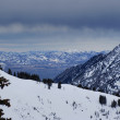 Spectacular view to the Mountains from summit of Alta ski resort in Utah — Stock Photo #18539815