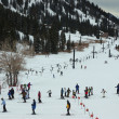 Connection ski lift between Alta and Snowbird ski resorts in Utah - Stock Photo