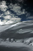 On the top of the World - Snow and Sky. Snowbasin mountain, Utah — Stock Photo
