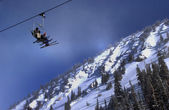 Winter time at Alta ski resort, Utah — Stock Photo