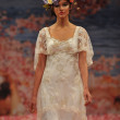 Stock Photo: NEW YORK- OCTOBER 14: Models walks runway for Claire Pettibone bridal show for Fall 2013 during NY Bridal Fashion Week on October 14, 2012 in New York City, NY