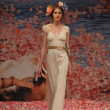 NEW YORK- OCTOBER 14: Models walks runway for Claire Pettibone bridal show for Fall 2013 during NY Bridal Fashion Week on October 14, 2012 in New York City, NY - Stock Photo