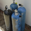 Stock Photo: Oxigen tanks for scubdiving