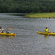 Kayaking at Colgate Lake, NY — Stockfoto