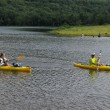 Kayaking at Colgate Lake, NY - Stock Photo