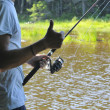 Fishing at the lake — Stock Photo #18659865