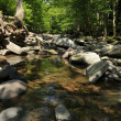 waterfalls on kaaterskill creek in the catskills mountains - new york — Stock Photo