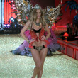 NEW YORK - NOVEMBER 10: Victoria&#039;s Secret Fashion Show model walks the runway during the 2010 Victoria&#039;s Secret Fashion Show - Lizenzfreies Foto