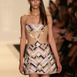 A model walks the runway at the Herve Leger By Max Azria Spring 2013 fashion show — Stock Photo