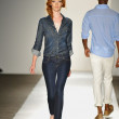A model walks the runway at the DL 1961 Premium Denim spring 2013 fashion show — Stock Photo #19353863