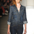 A model walks the runway at the DL 1961 Premium Denim spring 2013 fashion show — Stock Photo #19353875